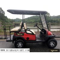 Quality Red 4 Seater Golf Buggy , Off Road Electric Golf Cart With Steel Front Bumper for sale
