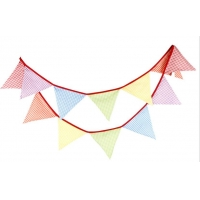 Quality Triangle Rainbow 100 Cotton Flag Line For Festive Party for sale