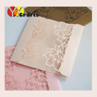 Creative paper handmade birthday invitation cards design with laser cutting