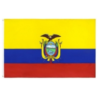 Quality Custom Country Screen Printed Rectangle Feather Flag for sale