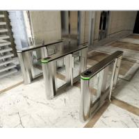 Quality Stainless Steel Triangle Entrance Swing Pedestrian Barrier Gate Machine For Subway Station for sale