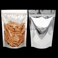 Buy Aluminum Foil Stand Up Plastic Food Packaging Bags One Side Clear Customized at wholesale prices
