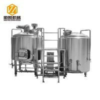 Quality 2 Vessels 304 Micro Beer Brewing Equipment Electricity / Steam Heating for sale