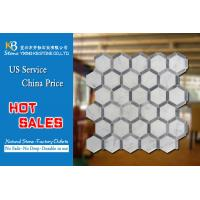 Quality Natural Stone marble mosaic tiles italian grey and carrara hexagon for sale