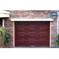 Quality Woodgrain Sectional Insulated Garage Doors Automatic With Finger Protection Panel for sale
