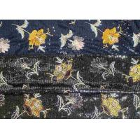 Quality Embroidery Sequin Lace Fabric with 3D Elegant Multi Colored Flowers Pattern for sale