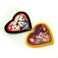 Buy Heart Shaped Heat Transfer Clothing Labels For Kids Clothes Any Color Avaliable at wholesale prices