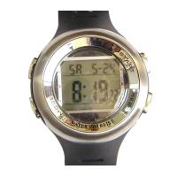 Quality Men PU Buckle Digital Vibrating Alarm Watch Dual Time Electronic Watch for sale