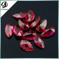 China Checkerboard cut 8x12mm natural ruby gems with factory price on sale