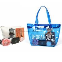 Buy Colorful Plastic PVC Handle Shopping Bag 0.15~0.8mm Thickness Custom Printing at wholesale prices