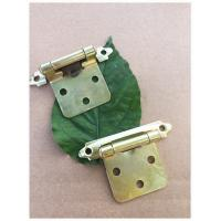 Quality Yellow Color Chrome Butterfly Cabinet Hinges  Self Closing For Kitchen Cabinet Door for sale