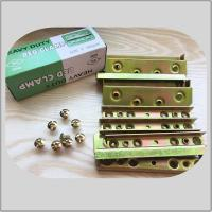 Quality High Durability Screw Hook Hinge  Yellow Zinc Color 480g Corner Brackets 8screws for sale