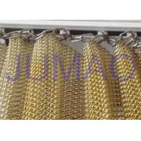 Quality Customized Size Metal Mesh Curtains High Strength Interior Partition Solutions for sale
