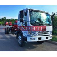 Quality 8 - 12 Tons Cargo Transport Truck 6 Wheelers Truck Chassis For Refitting Cargo / Tank Truck for sale