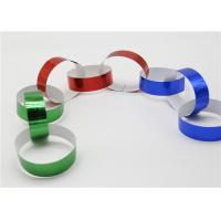 Quality Holographic Striped Christmas Paper , Gummed Paper Chains For Display SGS for sale