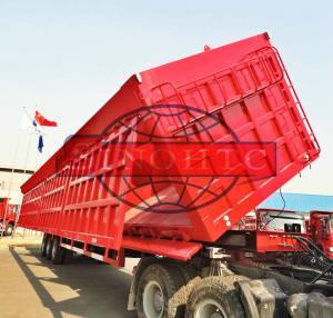Quality 3 Axle Semi Dump Trailers BPW 16 Tons Axle Model 80 Ton Load Capacity for sale