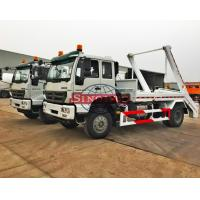 Quality 4x2 HOWO Arm Roll Garbage Truck , 8 - 12m3 Bucket Garbage Truck With Arm for sale