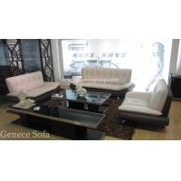 Best Modern Half Leather Sofa Set 1+2+3 Promotional Sofa, Discount Sofa Furniture wholesale
