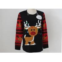 Quality OEM Unisex Embroidery Knitting Ladies Ugly Christmas Sweater With LED Lights for sale