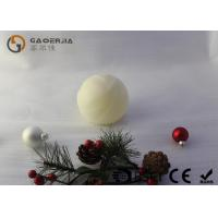 Quality Luxury Real Wax Electronic Candles with ball shape  , Carved Craft  LED Candles for sale