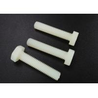 Quality M5 X 10 Plastic Nylon Hex Head Screws PA 66 UL 94V-2 Flat Point For Car Industry for sale