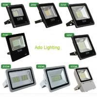 Quality outdoor led flood lighting black fixture 10-200W RGB DMX controlled rechargeable security for sale