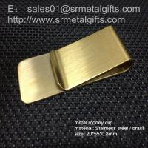 China Brass money wallet clipper, slim money clamp, card holder money clip on sale