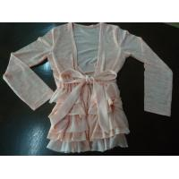 Buy cheap Colorful Girls Stylish Top Long Sleeve Layers Frills Waist Bow Belt Girls Size 7 from wholesalers