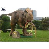 Quality Handmade Dinosaur Lawn Statue Length 3.5M-4M For Dinosaur Theme Park / Zoo for sale