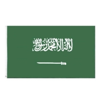 Buy cheap Saudi Arabia 100D Polyester 90g Asia National Flags 3x5ft for Campaign from wholesalers