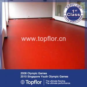 Red tennis sport flooring in stock