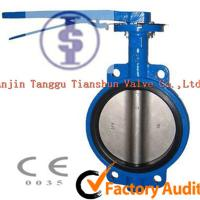 Quality Industrial Lever Operated Butterfly Valve / Cast Iron Wafer Valves DN100 - 1400mm for sale