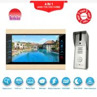 Quality Wired video camera doorbell metal video interphone intercom for villa/home/office/apartment for sale