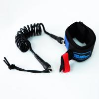 """Quality Searacer Coiled Urethane Surfing Bodyboard Leash Black 7mm(1/4"""") Thick 4' Length for sale"""
