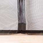 Quality Black Magnetic Fly Screen Mesh Door Curtain , Velcro Magnetic Screen Door Exterior for sale
