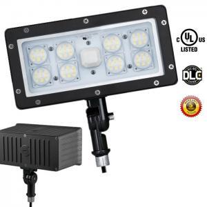 Quality LED Security Floodlight 5000K Outdoor LED Flood Light Cool White Photocell 70 Watt for sale