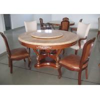 Buy cheap Round Marble Luxury Dining Room Furniture Walnut Dining Table And Chairs from wholesalers