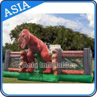 Quality Inflatable Jurassic Park Playgroud Dinosaur Fun City With Silk Screen Printing for sale