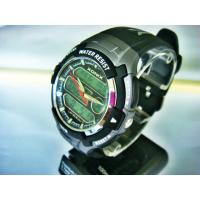 China Gents Round Sporty Analog Digital Watches With EL Light Count Down Timer on sale