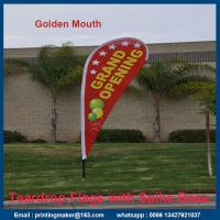 Quality Medium Size Printed Teardrop Flags Banners for sale