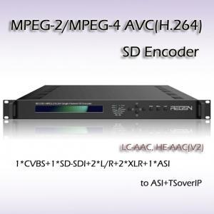 Quality Single-Channel DVB MPEG-2/H.264 SD Encoder IPTV System Headend One-Seg Streaming RES2301 for sale
