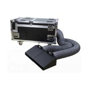 Quality DMX Ccontrol 3000W Low Lying Double Pipe Weeding Party Stage Ground Smoke Fog Machine for sale