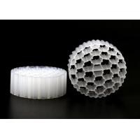 Quality High Surface Area MBBR Filter Media White Virgin HDPE Material Energy Saving for sale