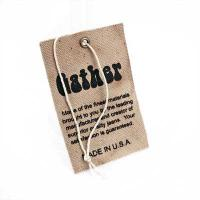 Quality especial shape canvas hang tags for garment for sale