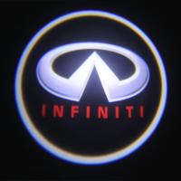 Quality Infiniti emblem door logo light 12v 3w LED Door Projector Lights with car badge for sale