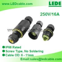 Best IP68 Waterproof In-Line Cable Connector wholesale
