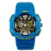 Quality Dual Display Digital Sports Watches For Men In Blue Color Analog Style for sale