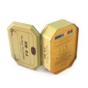 Quality Antique octagonal tea cookie metal tins wholesale for sale