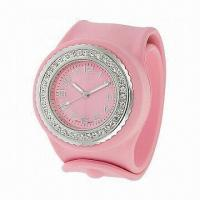 Best 2012 Hot-selling Silicone Slap Watches for Christmas Gifts, Silicone Rubber, OEM Orders Welcomed wholesale