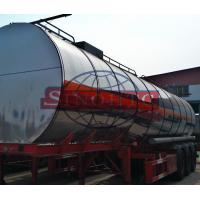 Quality Insulated Steel Cooking Oil Tank Trailer , 55 000 Liter Tri Axle Tanker Trailer for sale